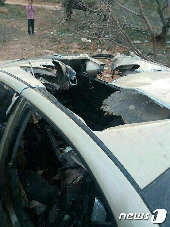 갈갈이 찢겨나간 리오 차량 내부. © 뉴스1