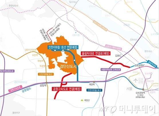 검단 광역교통망/사진=인천도시공사