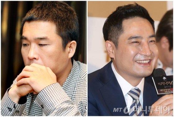 가수 김건모(왼쪽), 강용석 변호사 /사진=머니투데이DB