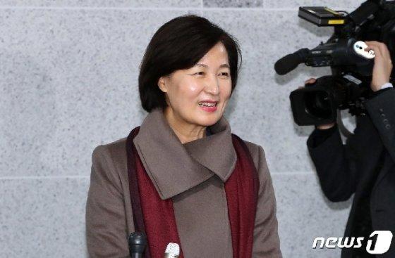 추미애 법무부장관 후보자가 5일 서울 여의도 국회 의원회관에서 법무부장관에 지명된 소감을 밝히고 있다. © News1 이종덕 기자