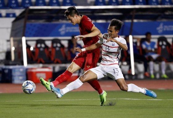 베트남은 7일(한국시간) 필리핀에서 열린 필리핀에서 열린 2019 동남아시안게임 축구 캄보디아와 준결승에서 4-0으로 완승했다. /사진=로이터
