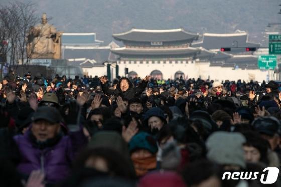 [사진] 범국민투쟁본부 전국교회 주일연합예배 개최