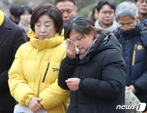 [사진] 김용균 1주년 '어머니는 눈물'