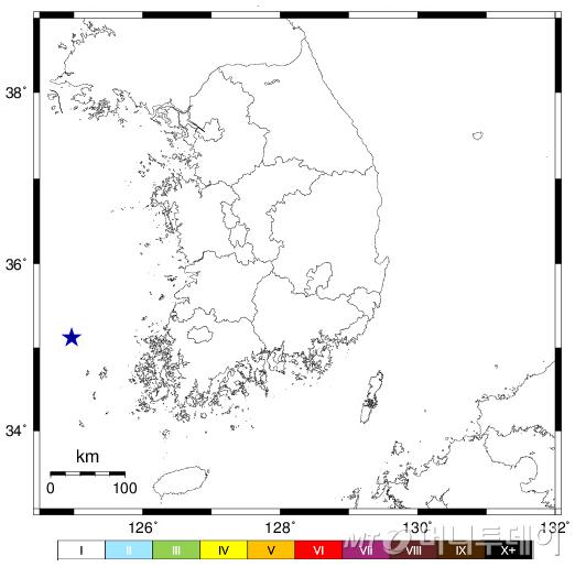 전남 신안 해역 규모 2.0 지진…