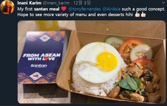 산탄 식당의 아이디어에 만족감을 표한 한 고객. /사진=트위터