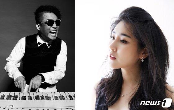 가수 김건모(왼쪽), 피아니스트 장지연 /사진=뉴스1