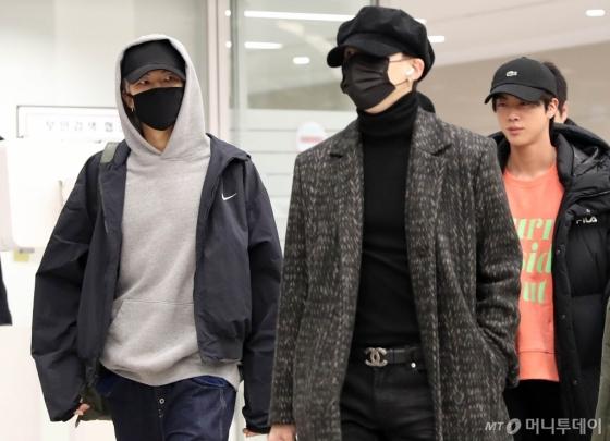 [사진]입국하는 방탄소년단