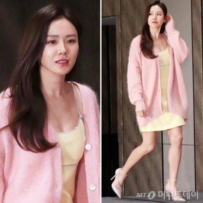 """손예진, 끈 원피스에 핑크 카디건…""""원조 청순 미인"""""""
