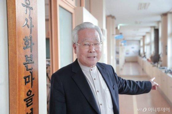 윤진기(74) 삼국유사화본마을 영농조합법인 대표. / 사진=정혁수