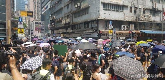 홍콩 시위 현장/사진=이태성기자