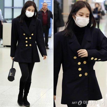 블랙핑크 제니, 갈 땐 '큐트' 올 땐 '시크'한 공항 패션