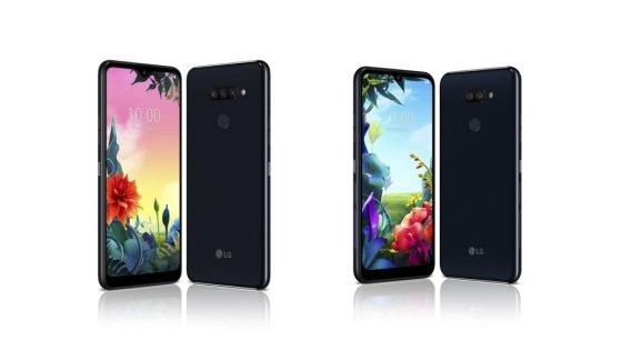 LG전자 실속형 스마트폰 2종 'LG K50S'(왼쪽)와 'LG K40S'. /사진=LG전자