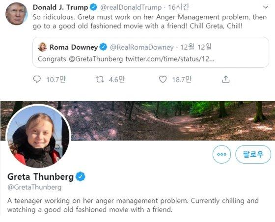 나잇값 못하는 트럼프, 16세 소녀에 막말 트윗