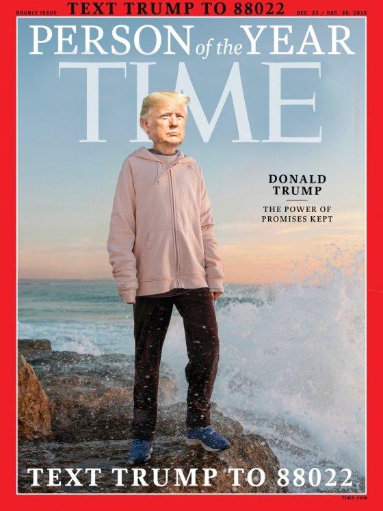 트럼프 재선 캠프가 공개한 툰베리와 트럼프의 합성사진. /사진=트럼프 재선 캠프 트위터
