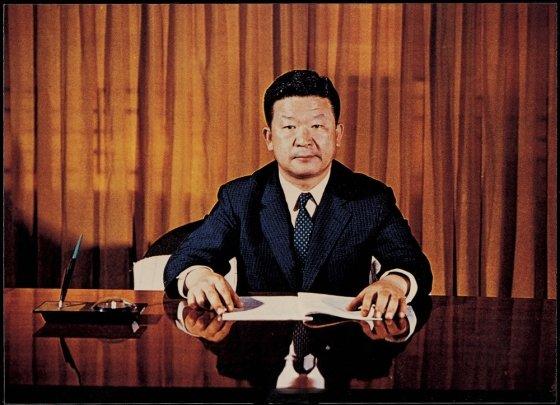1970년 1월 LG그룹(당시 럭키금성그룹) 회장 취임 당시의 구자경 명예회장. /사진제공=LG