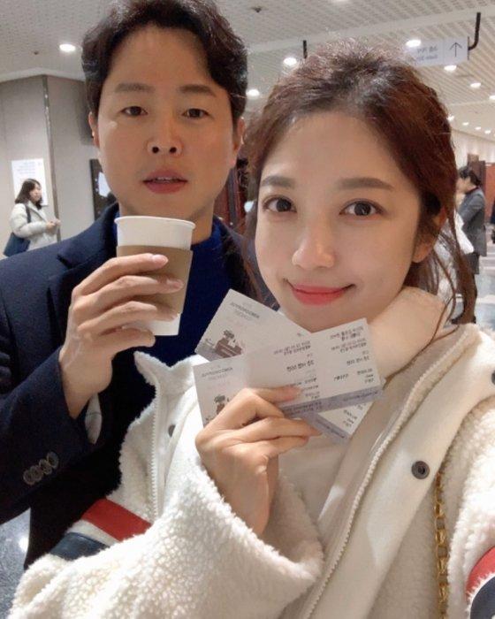 김현우 앵커와 이여진 기상캐스터/사진=이여진 기상캐스터 인스타그램