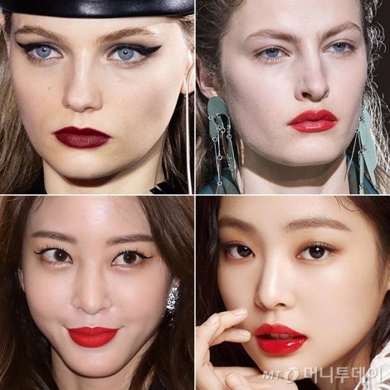 (아래)배우 한예슬, 그룹 블랙핑크 제니 /사진=루이 비통, 페라가모 2019 F/W 컬렉션, 머니투데이 DB, 헤라