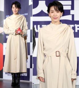 '미스터 주' 김서형, 코트도 드레스처럼…온화한 매력