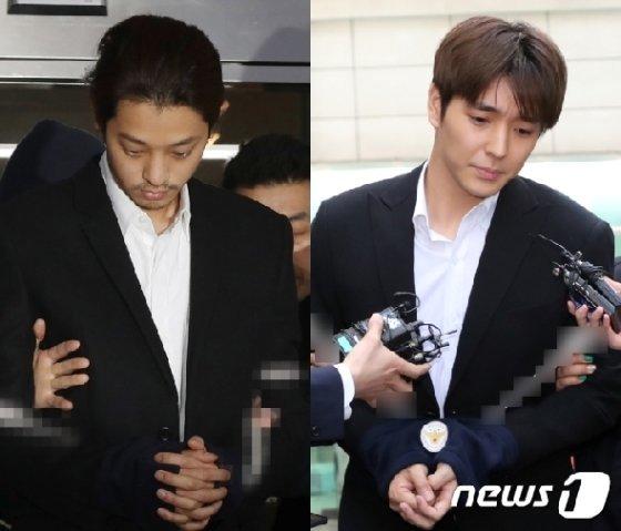 정준영씨(왼쪽)와 최종훈씨. /사진=뉴스1