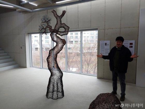 이길래 작가. 천년-소나무 2019-15. /사진=김고금평 기자<br>