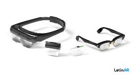 레티널의 핀 미러 렌즈, 핀 미러 렌즈를 장착한 AR 고글, 스마트글래스.