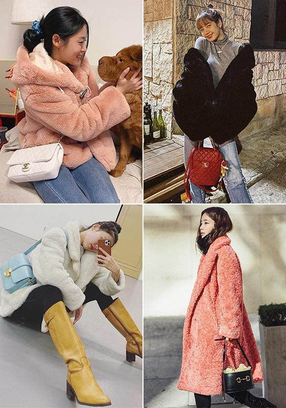 왼쪽부터 시계 방향으로 그룹 AOA 설현, 블랙핑크 리사, 배우 기은세, 가수 현아/사진=각 스타 인스타그램