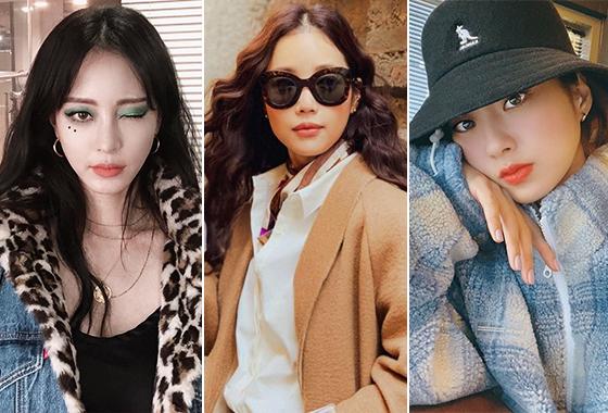 배우 한예슬, 기은세, 가수 경리/사진=각 스타 인스타그램