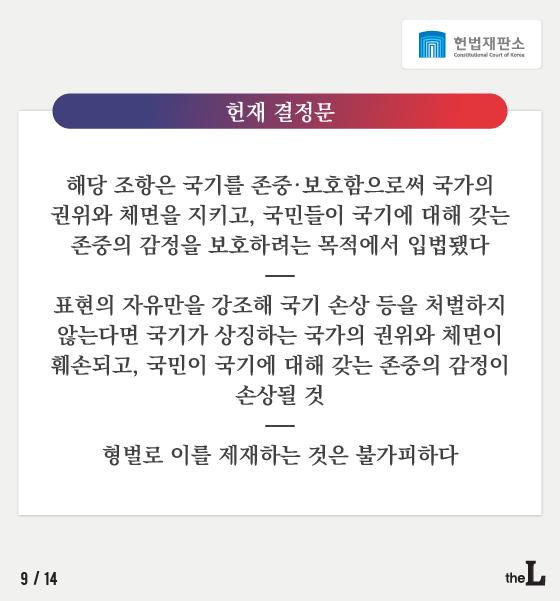 [카드뉴스] 태극기 훼손, 표현의 자유?
