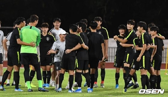 김학범 감독이 이끄는 U-23 축구대표팀이 8일 오후 태국 송클라에서 훈련을 진행했다.