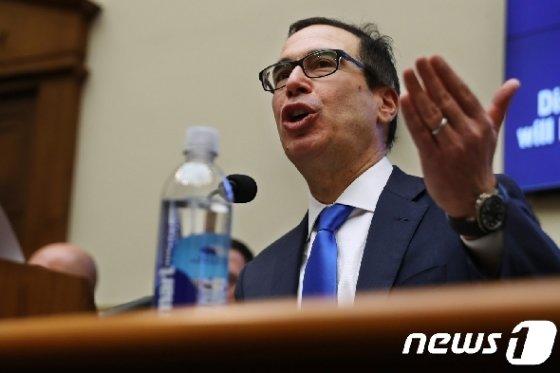 스티브 므누신 미국 재무장관. © AFP=뉴스1