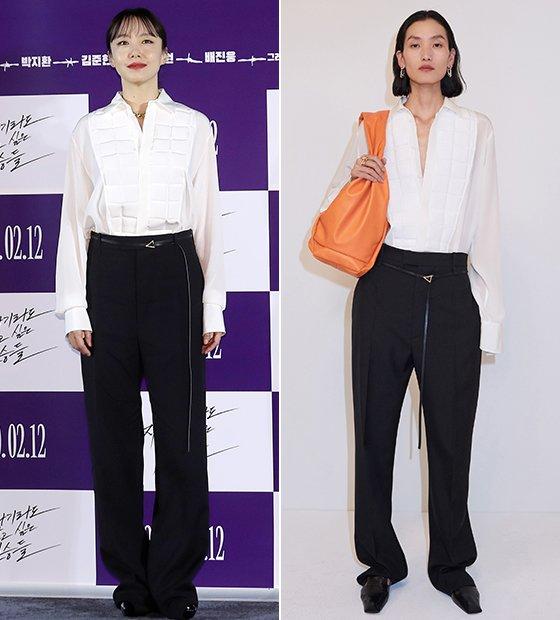 배우 전도연, 보테가 베네타 2020 리조트 컬렉션/사진=김휘선 기자, 보테가 베네타