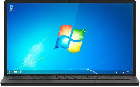 윈도7 바탕화면 /사진=MS