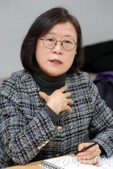 14일 오후 서울 서초구 H2KOREA에서 열린 수소경제로드맵 1주년 관련 지상좌담회. 홍혜란 에너지시민연대 사무총장 / 사진=이기범 기자 leekb@