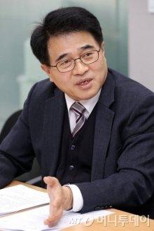 14일 오후 서울 서초구 H2KOREA에서 열린 수소경제로드맵 1주년 관련 지상좌담회. 유종수 하이넷 사장 / 사진=이기범 기자 leekb@