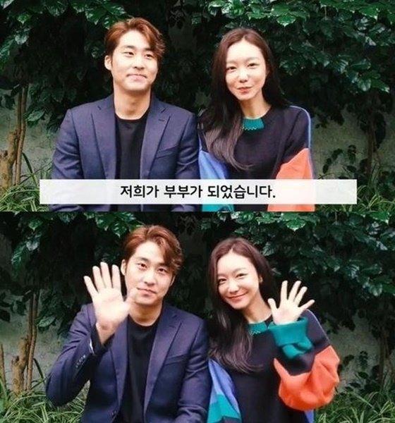 배우 김지철(왼쪽)과 신소율/사진=신소율 인스타그램