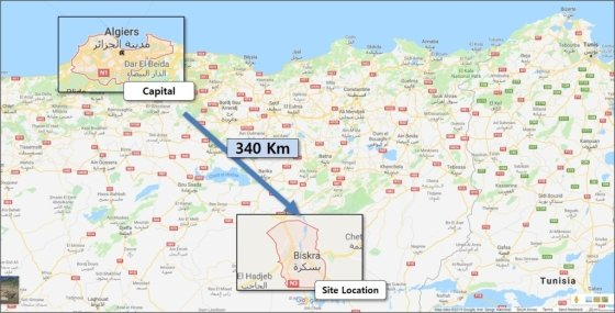 알제리 우마쉐3 복합화력 발전소 위치도/자료=현대건설