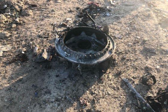 우크라이나 여객기 잔해 /사진=AP/뉴시스