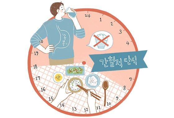한혜연은 다이어트 방법의 하나로 16시간 공복을 유지하는 '간헐적 단식'을 추천했다./일러스트=이미지투데이