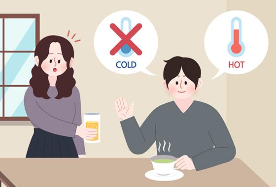 체온을 높여 기초대사량을 높이고 싶다면 차가운 음료보다 따뜻한 음료를 마시는 것이 좋다./일러스트==게티이미지뱅크