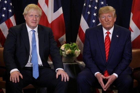 보리스 존슨 영국 총리와 도널드 트럼프 미국 대통령/사진=로이터