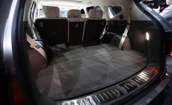 현대차그룹 제네시스 SUV 'GV80' 트렁크 공간. /사진=김창현 기자