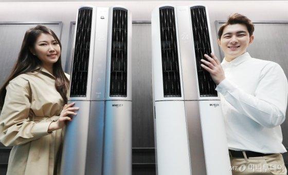 [사진]LG전자, 미세먼지 잡고 AI 탑재 '싱큐 에어컨' 출시