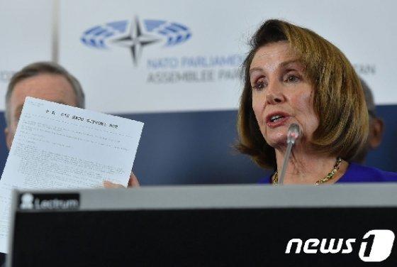 낸시 펠로시 미국 하원의장. © AFP=뉴스1
