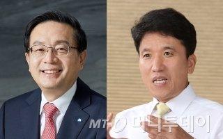 손태승 우리금융그룹 회장(왼쪽)과 함영주 하나금융그룹 부회장/사진=머니투데이DB