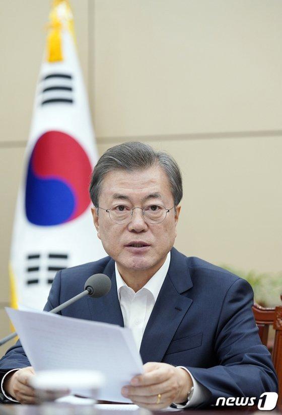 문재인 대통령이 지난해 12월 16일 청와대에서 열린 수석·보좌관 회의에서 모두발언을 하고 있다. /사진제공=청와대