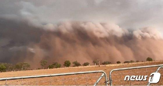 호주 뉴사우스웨일즈 주를 덮친 거대 먼지폭풍. (BBC 영상 캡처)© 뉴스1