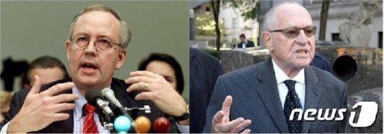 켄 스타 전 특별검사(좌)와 앨런 더쇼비츠 변호사. © 로이터=뉴스1