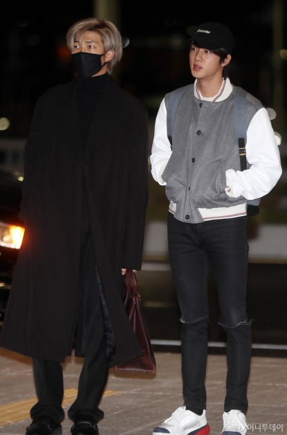 [사진]RM-진 '든든한 두남자'