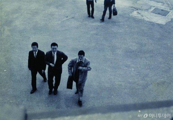 1965년 입국하는 신격호 롯데그룹 명예회장의 모습. / 사진제공=롯데그룹