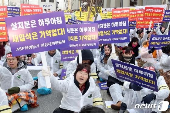 [사진] 'ASF희생농가, 조속한 재입식 촉구!'